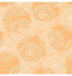zinnia pattern vector image vector image