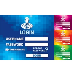 Web Login Template vector image