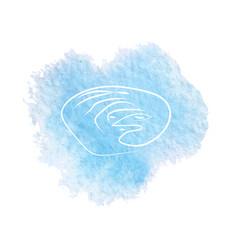 frost moon sketch vector image