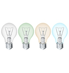 Four flourescent bulbs vector
