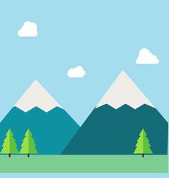 Flat natural landscape vector