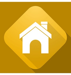 Icon of house with a long shadow vector