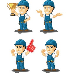 Technician or repairman mascot 14 vector