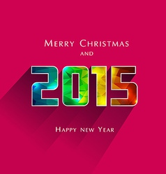 geometric effect 2015 year vector image