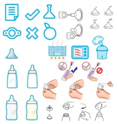 Nursery accessories vector