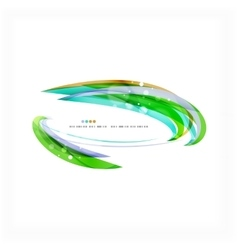 Green light lines on white presentation template vector