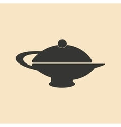 Flat in black and white mobile application teapot vector