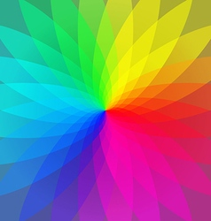 Color wheel abstract geometric stripes vector