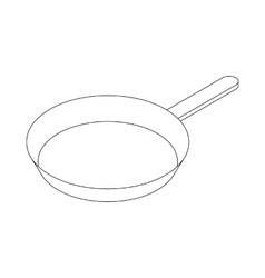 Frying pan with handle icon isometric 3d style vector