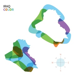 Abstract color map of Iraq vector image vector image