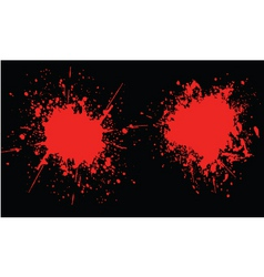 blood splats vector image vector image