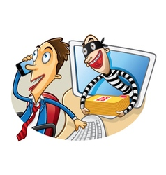 Cartoon Document Theft vector image