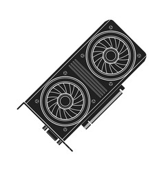 computer video card vector image vector image