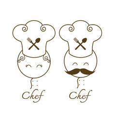 Couple chef vector