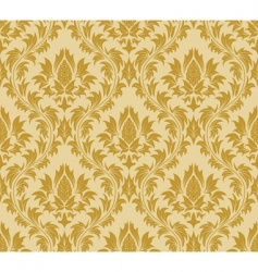 damask wallpaper pattern vector image vector image