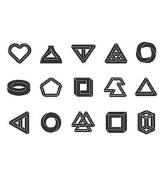 Impossible shapes set vector