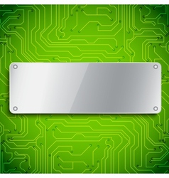 Microchip background vector image vector image