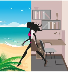office to vacation vector image