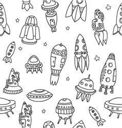 Pattern spaceshipsshuttles space plates vector