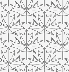 Perforated maple leaves with veins vector