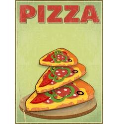 Pizza slices vector