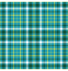 Seamless plaid pattern in dark green white and vector