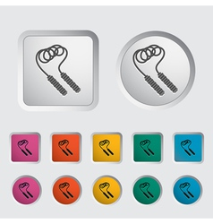 skipping rope icon vector image vector image