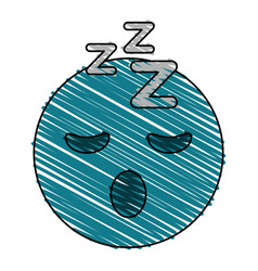 Sleepy eyes zzz emoji icon image vector