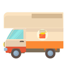 Street food truck icon cartoon style vector
