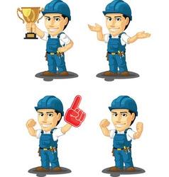 Technician or repairman mascot 14 vector