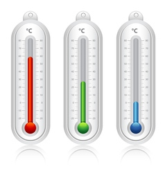 Temperature indicators vector image vector image