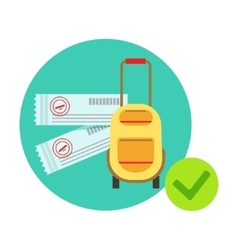 Travelling bag and luggage protected by insurance vector