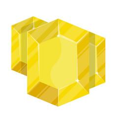 Yellow jewelry beryl icon vector