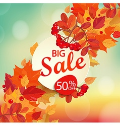 Big sale - autumn background vector