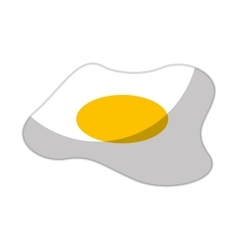 Egg fried isolated icon vector