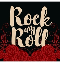 Rock and roll and roses vector