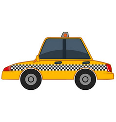 yellow taxi on white background vector image