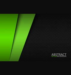 black and green modern material design vector image