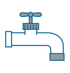Isolated water faucet vector