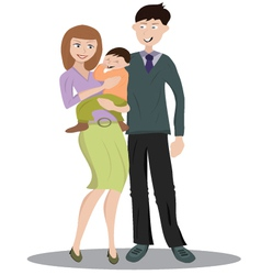 Family with one child vector