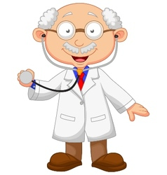 Cartoon Doctor with stethoscope vector image