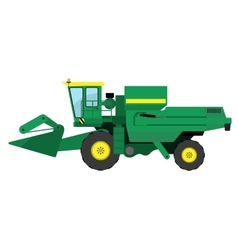 Modern green harvester vector