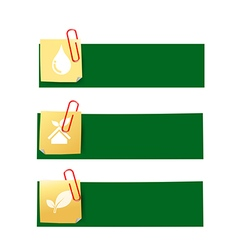 Eco icon ad tag ribbon banner eps10 003 vector
