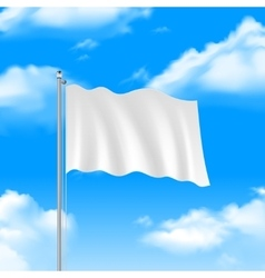 Flag on the blue sky vector