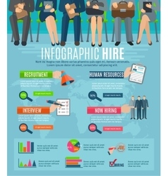 Human resources hiring people infographic report vector