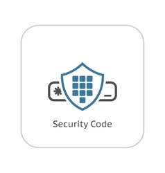 Security code icon flat design vector