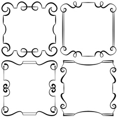 Set of decorative frameworks vector