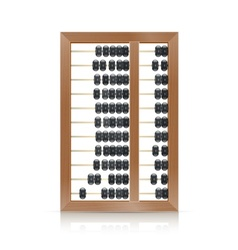 Chinese vintage wooden abacus vector