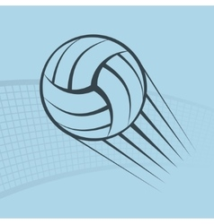 Volleyball play background vector