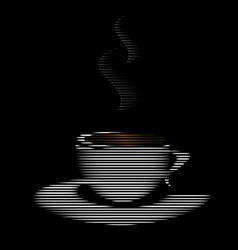 abstract white cup vector image